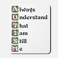 Autism Poem Puzzle Mousepad
