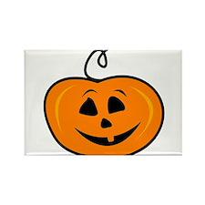 Carved pumpkin head design Magnets