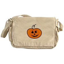 Carved pumpkin head design Messenger Bag