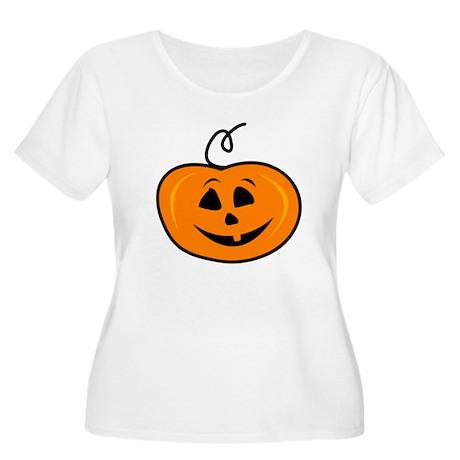 Carved pumpkin head design Plus Size T-Shirt