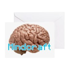 Mindcraft, the game of minds. Greeting Card