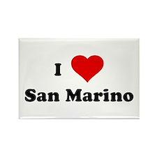 I Love San Marino Rectangle Magnet