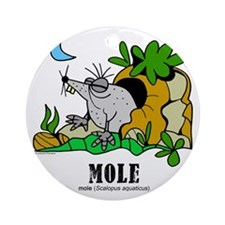 Cartoon Mole by Lorenzo Round Ornament