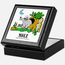 Cartoon Mole by Lorenzo Keepsake Box