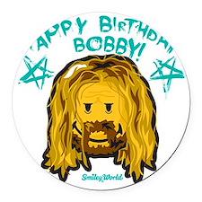 Bobby Smiley Round Car Magnet