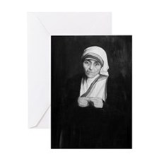 Mother Teresa (black and white) Greeting Card