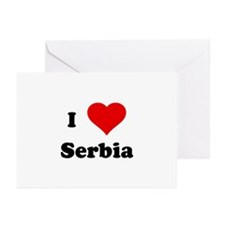 I Love Serbia Greeting Cards (Pk of 10)