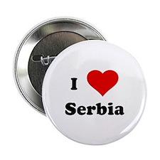 I Love Serbia Button