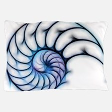 Sectioned shell of a nautilus, artwork Pillow Case