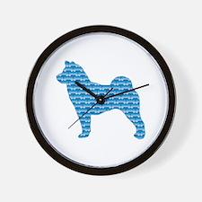 Bone Foo Dog Wall Clock