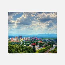 Asheville, North Carolina skyline ne Throw Blanket