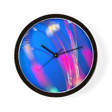 Optical fibres Wall Clock