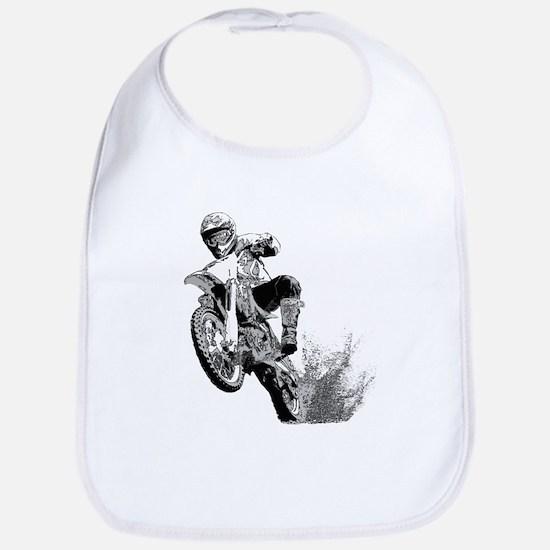 Dirtbike Wheeling in Mud Bib