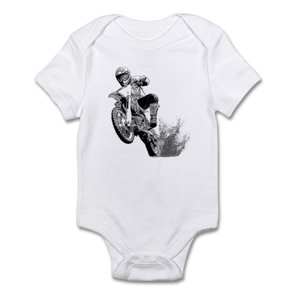 116463867 CafePress Dirtbike Wheeling In Mud Infant Bodysuit Baby Bodysuit