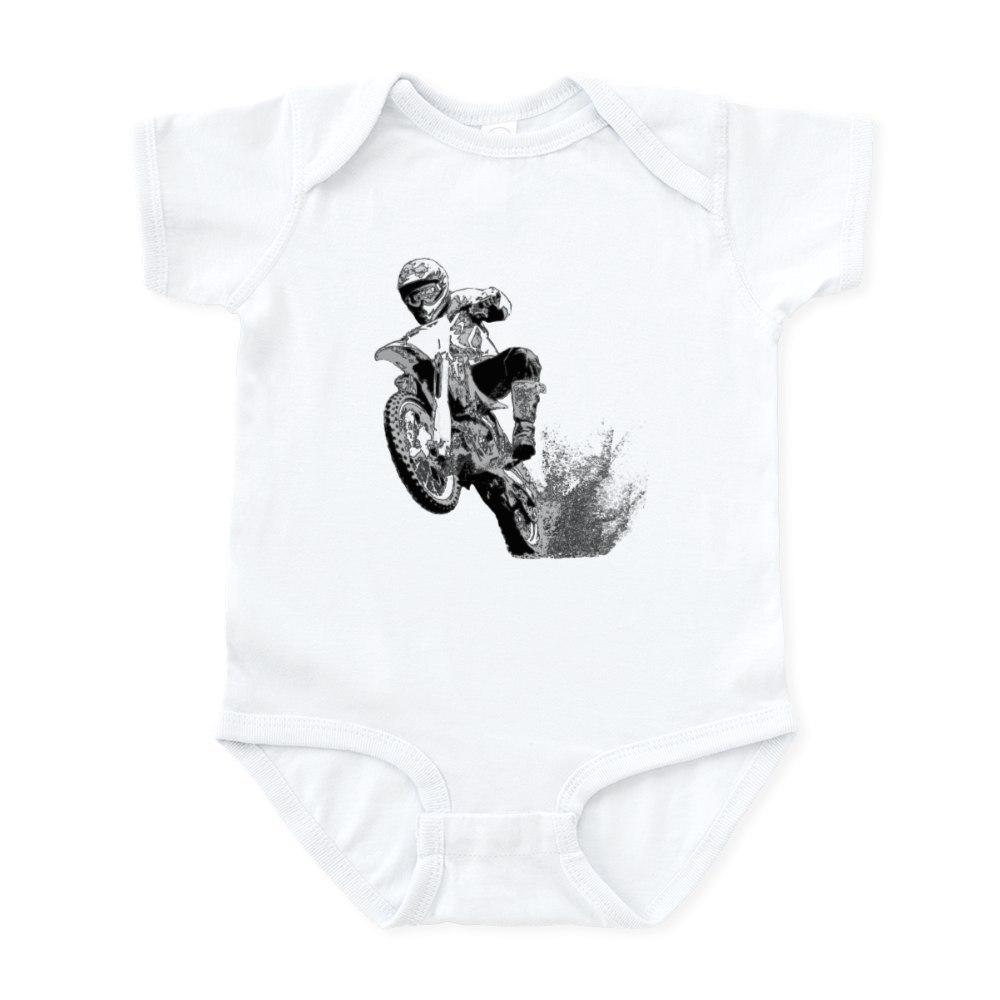 CafePress Dirtbike Wheeling In Mud Infant Bodysuit Baby Bodysuit 116463867