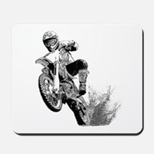 Dirtbike Wheeling in Mud Mousepad