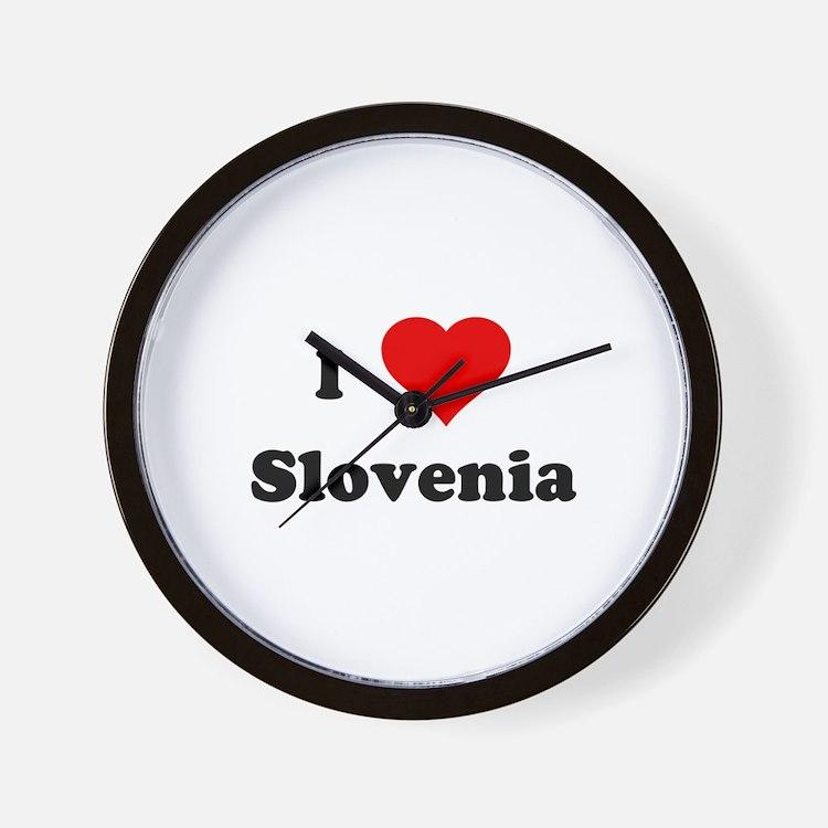I Love Slovenia Wall Clock