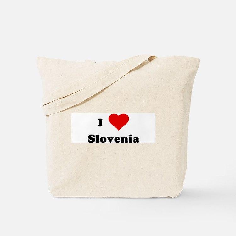 I Love Slovenia Tote Bag