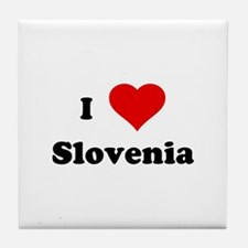 I Love Slovenia Tile Coaster