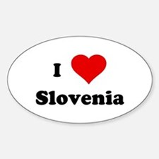 I Love Slovenia Oval Decal
