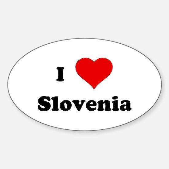 I Love Slovenia Oval Decal