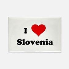 I Love Slovenia Rectangle Magnet