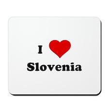 I Love Slovenia Mousepad
