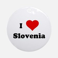 I Love Slovenia Ornament (Round)