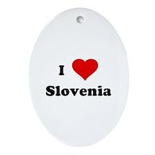 I Love Slovenia Oval Ornament