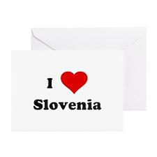 I Love Slovenia Greeting Cards (Pk of 10)