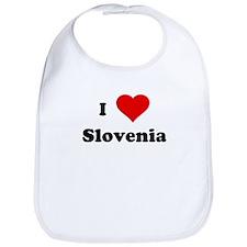 I Love Slovenia Bib