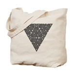 Blackwork Triangle Knot Tote Bag