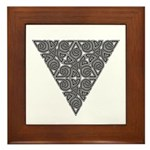 Blackwork Triangle Knot Framed Tile