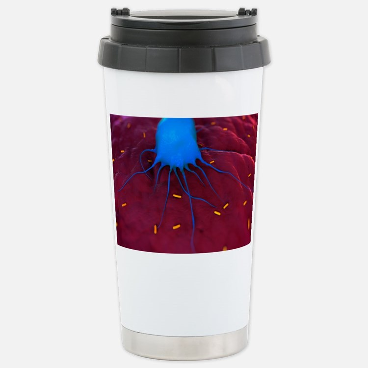 Macrophage attacking ba Travel Mug