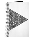 Blackwork Triangle Knot Journal