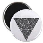 "Blackwork Triangle Knot 2.25"" Magnet (10 pack)"