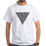 Blackwork Triangle Knot White T-Shirt