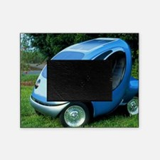 Electric car with solar panels Picture Frame