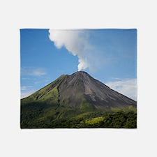 Arenal Volcano In Costa Rica Throw Blanket