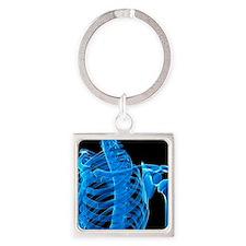 Shoulder bones, artwork Square Keychain