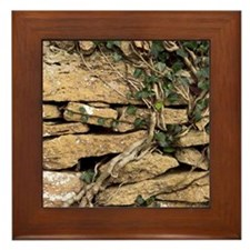 Dry stone wall Framed Tile