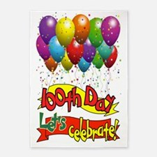 100th Day Balloons 5'x7'Area Rug