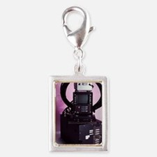 Early GPS equipment Silver Portrait Charm
