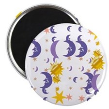 Moons shower curtain Magnet