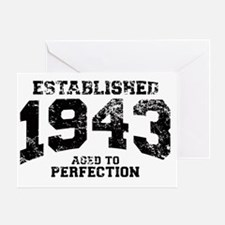 Established 1943 - Aged to perfectio Greeting Card