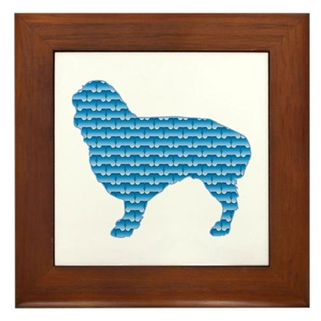Bone Spaniel Framed Tile