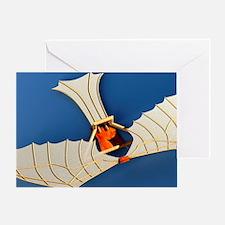 Flying machine, computer artwork Greeting Card