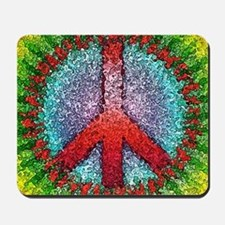 Abstract Peace Sign Mousepad