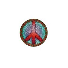 Abstract Peace Sign Mini Button