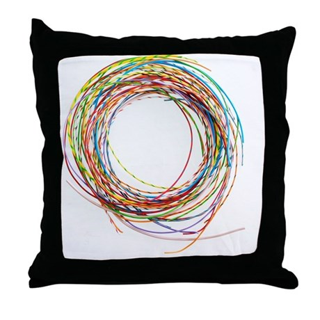 Electrical wires Throw Pillow